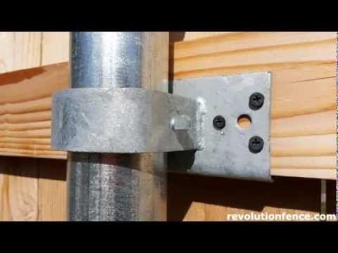 Wood Fence Bracket Comparison | Revolution Fence | Meridian Idaho | (208) 991-4283 - YouTube