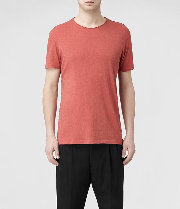 Mens Figure Crew T-Shirt (Copper) | ALLSAINTS.com