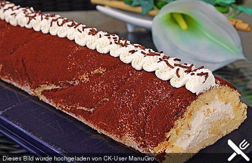 Tiramisu - Biskuitrolle, ein leckeres Rezept aus der Kategorie Kuchen. Bewertungen: 18. Durchschnitt: Ø 4,3.