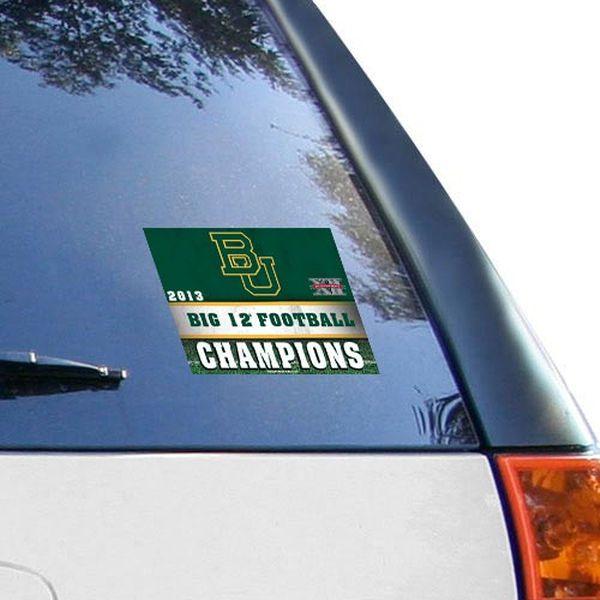 "Baylor Bears 2013 Big 12 Football Champions 4.5"" x 6"" Ultra Decal Cling - $1.99"