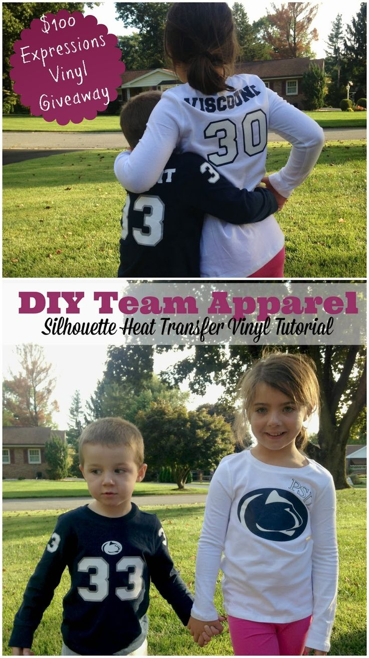 DIY Team Apparel Shirts with HTV ~ Silhouette School
