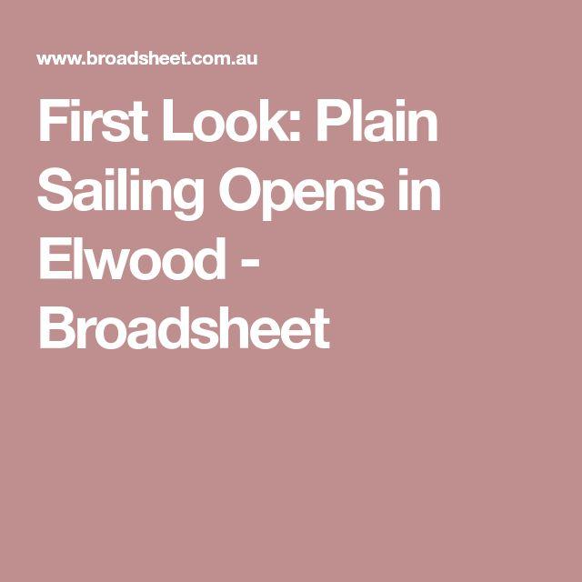 First Look: Plain Sailing Opens in Elwood - Broadsheet