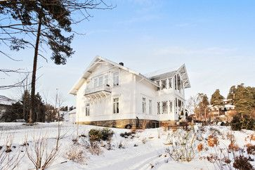 """gorgeous norwegian mansion, love their characteristic balconies and front entrances"" ""200 ry old wooden norwegian house"" ""norwegian 200 yr old home"""