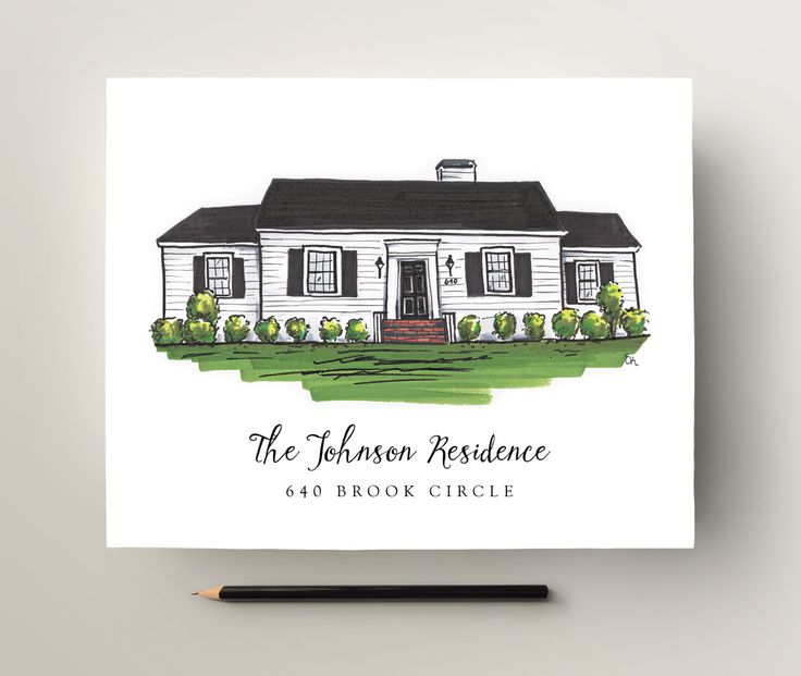 Custom House Portrait - Perfect artwork for an entry way!   texture design co  - custom house portrait giveaway