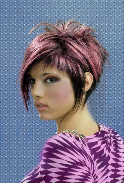 Short Hair Styles - NewTrends Want this hair, but with bright red instead of pink.