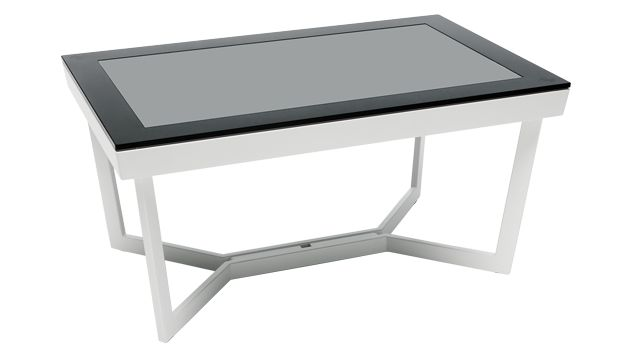 """This FlatFrog multi-touch table lets you plug in your Windows 7 device (like a laptop) to create a 32"""" touchscreen"""