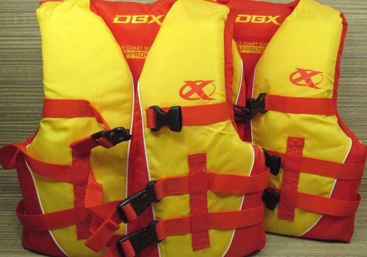 2 DBX Youth Child's Life Jacket Swim Aid Vest 50-90 Pds. Coast Guard Approved #DBX