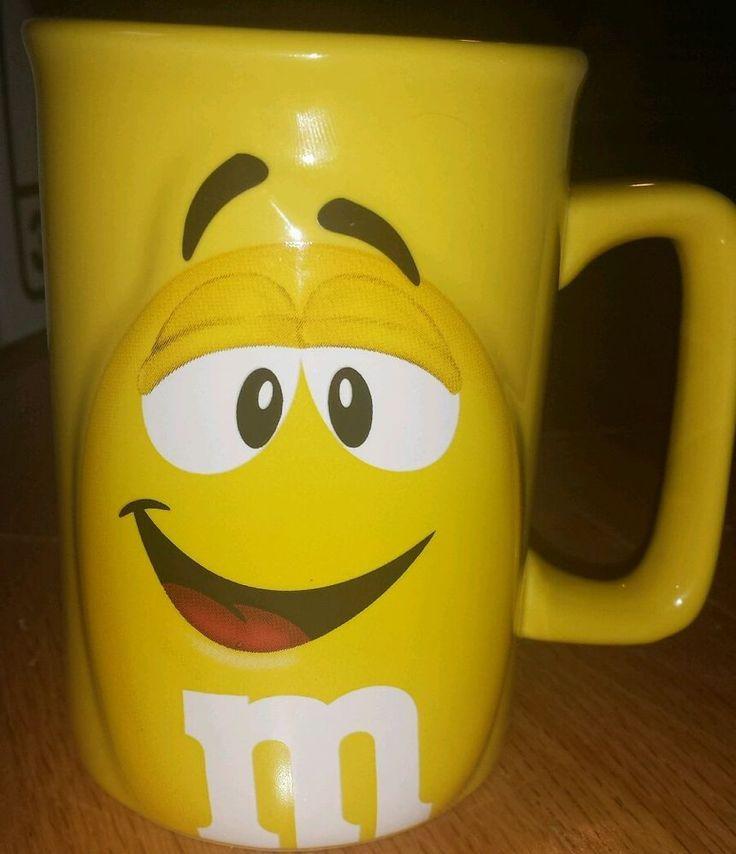 Yellow M&M's Coffee Mug  3D Raised 2011 Mars Company #MM