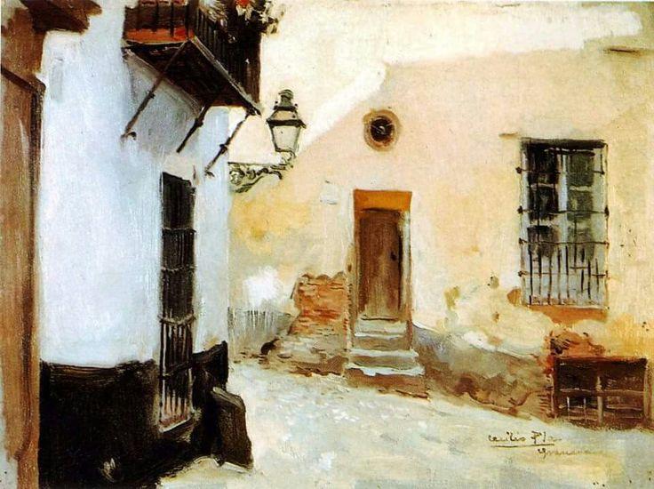 لوحة دروب غرناطة (1950) للفنان الإسبانى (Cecilio Plá y Gallardo)  Source: https://m.facebook.com/Andalusn/