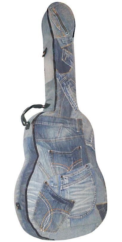 Funda vaquera para guitarra acústica o española. Hecha artesanalmente por http://mangosta.me