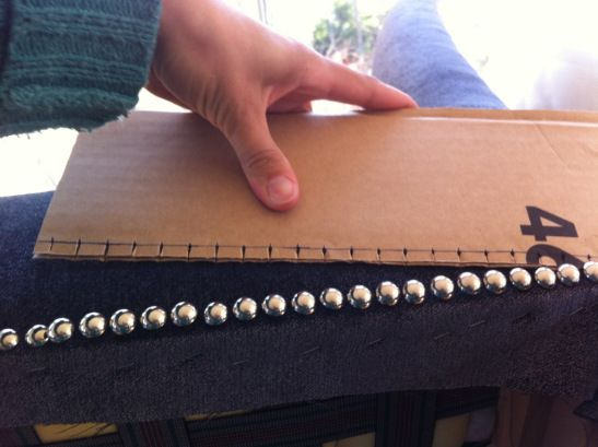 How to line up furniture studs