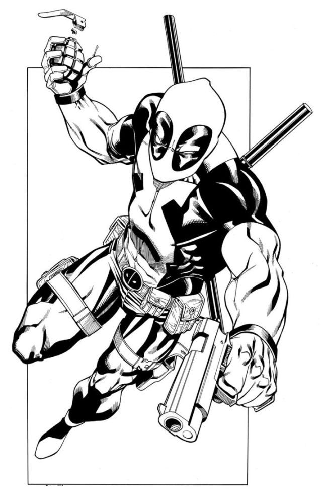 100 best coloring pages images on pinterest | free printable ... - Deadpool Coloring Pages Printable