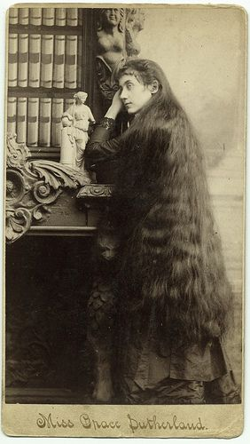 """""""But if a woman have long hair, it is a glory to her"""" (1 Corinthians 11:15, The Bible), Miss Grace Sutherland. by George Eastman House, via Flickr"""