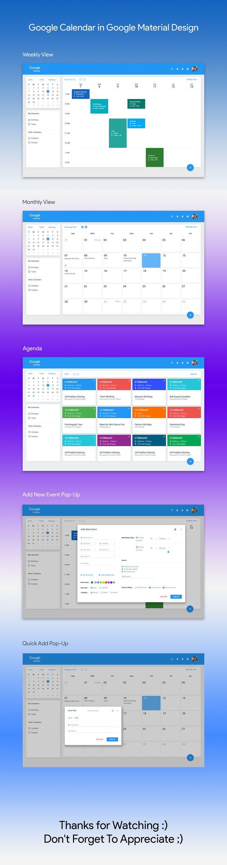 Google Calendar Design : Best web design ui ux images on pinterest