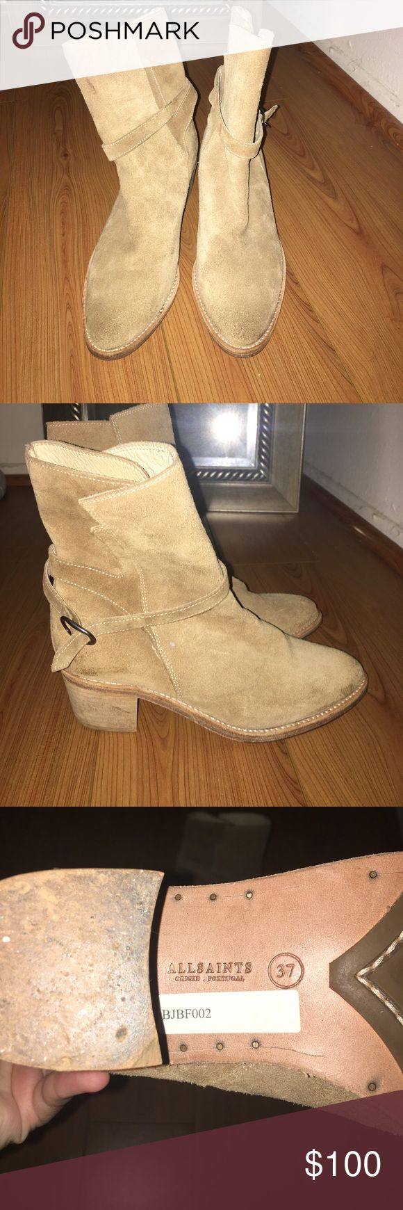 All Saints Jodhpur Boots Worn a few times but in still in good condition. Has a few marks on the suede as pictured but not very noticeable when worn All Saints Shoes Ankle Boots & Booties