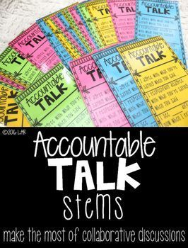 Accountable Talk Stems- Free