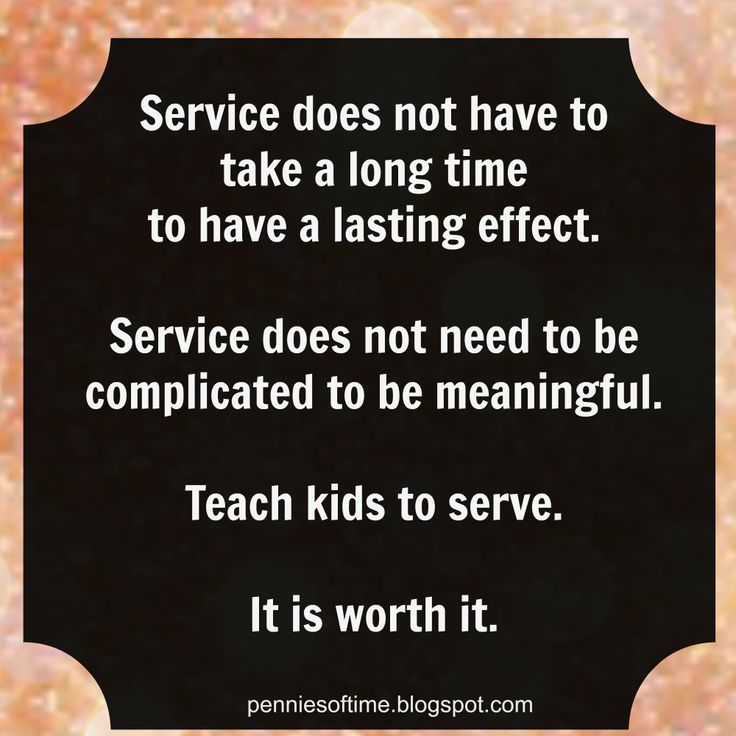 Teach Kids to Serve. #actsofkindness #servicprojects #serveothers