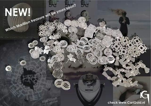 Marillion sterling silver Jewellery- inspirated by CD covers- made by Karin Hengeveld- CariGold- www.carigold.nl