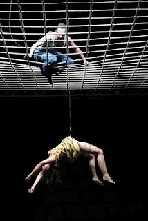 Woyzeck in Wiesbaden Germany Hanging from web. could represent the glass seiling
