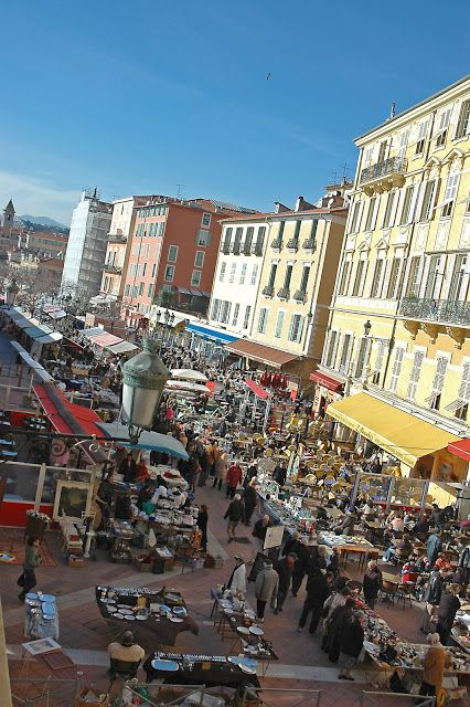 My favorite flea and flower market...Nice, France on the Cours Saleya..the Marche des Fleurs!