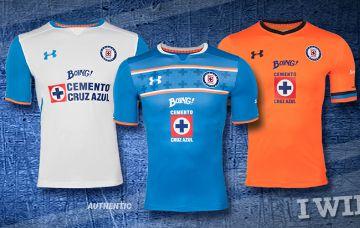 Cruz Azul 2015/16 Under Armour Home, Away and Third Jerseys