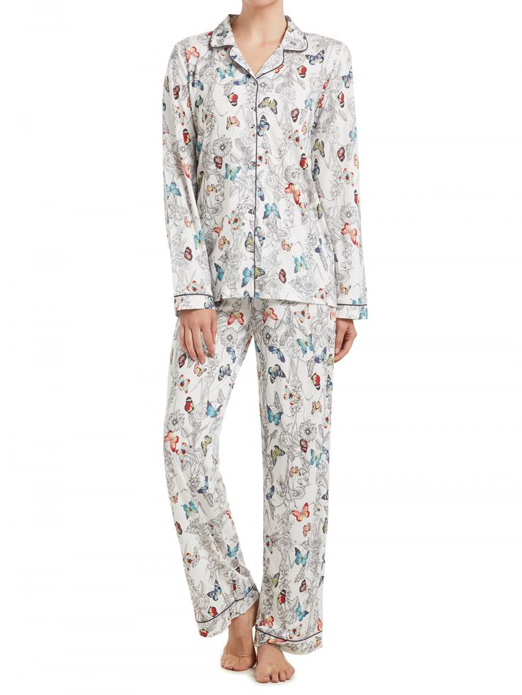 New From Sussan us Butterfly Floral Pyjama Set