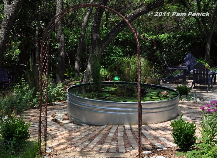 Horse Trough Pond Garden Yard Pinterest Gardens