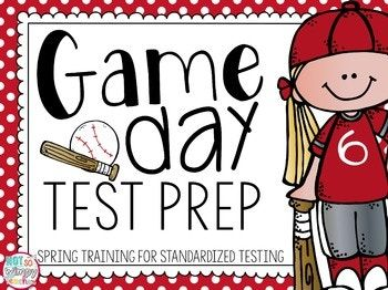 Make standardized test prep more exciting with a baseball theme! Instead of calling it test prep, call it Spring Training. And instead of test day, call it Game Day!!! This unit is full of printables and craftivities that will make your Spring Training test prep so much more fun and meaningful!