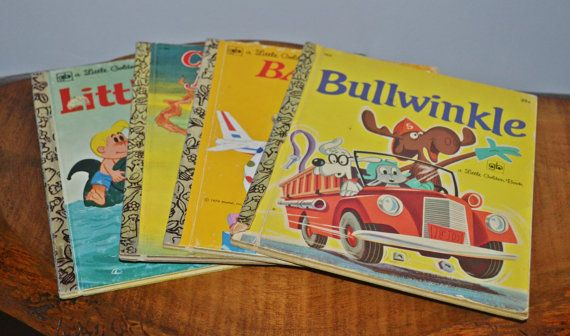 Four 'A Little Golden Book' Books Vintage by Collectitorium