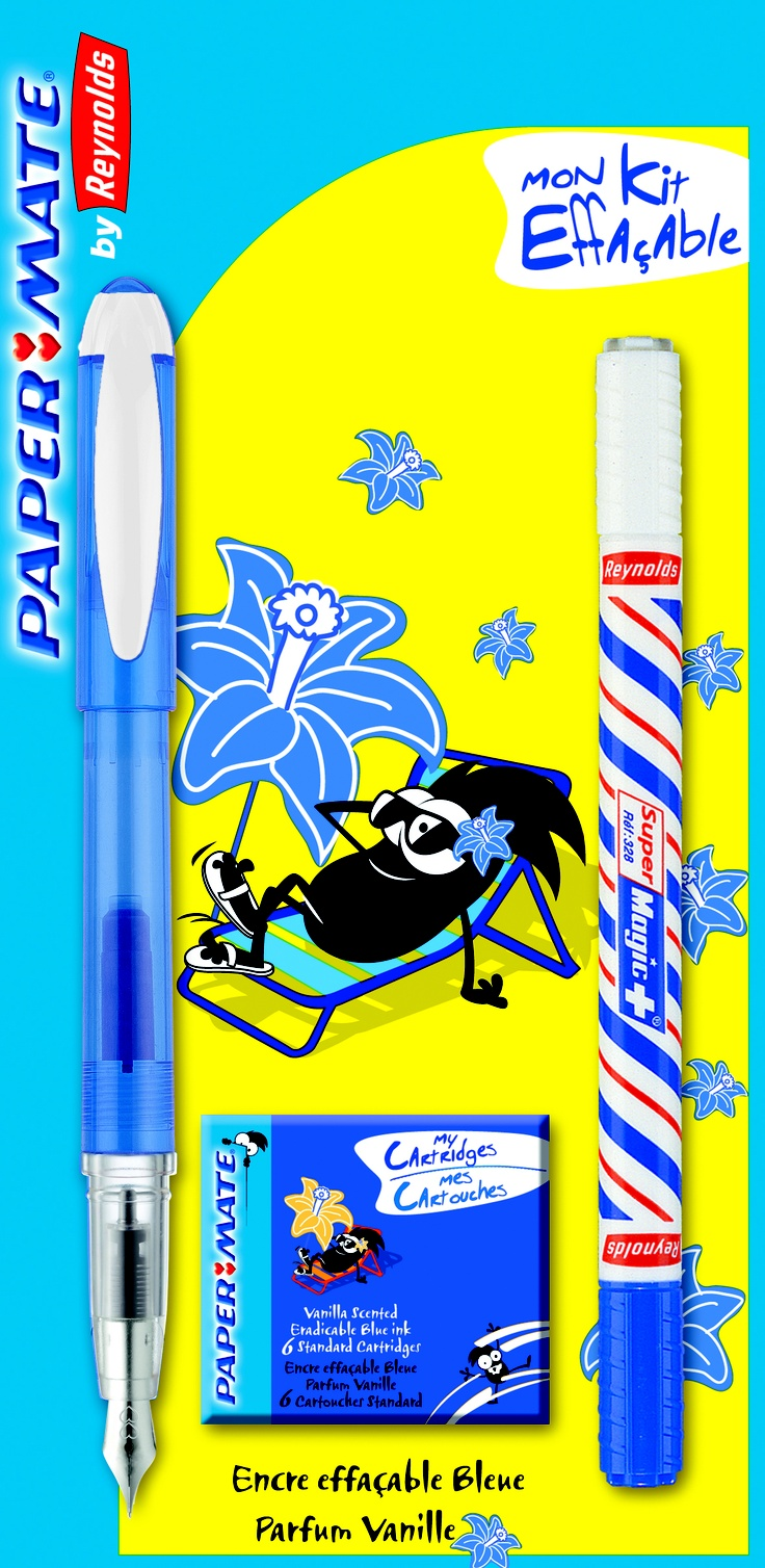 Un stilou perfect pentru școală! http://www.rechizitelemele.ro/stilou-317-pic-resc-parf-vanilie-set-6-rezerve