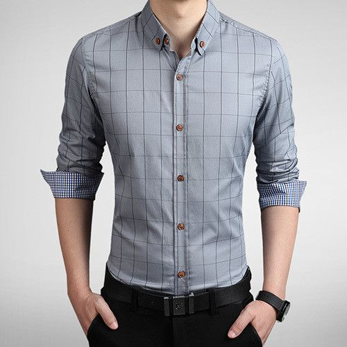 Fashion Brand Men Slim Fit Shirt