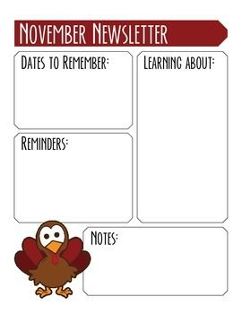 54aac71c39e780663f8d2b2d85858e1b--tar-adobe November Teacher Newsletter Template on owl theme, for first grade, free preschool,