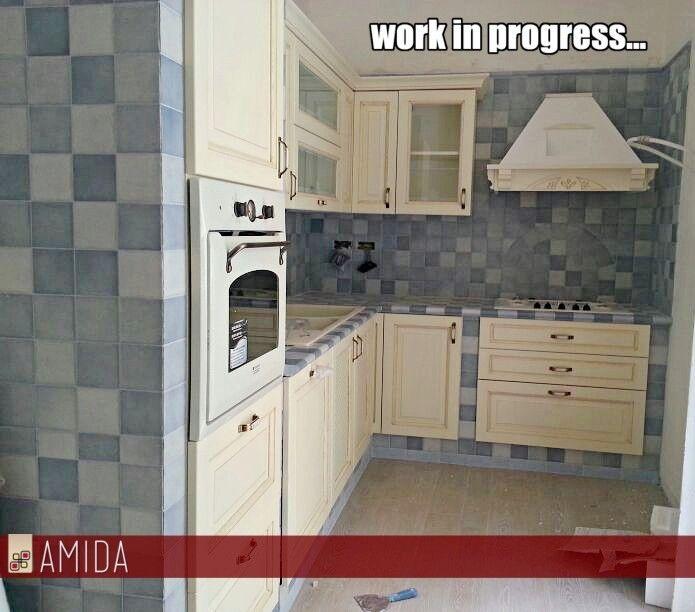 Ecco una #cucinainmuratura realizzata con Amida: Siamo arrivati quasi alla fine! :D