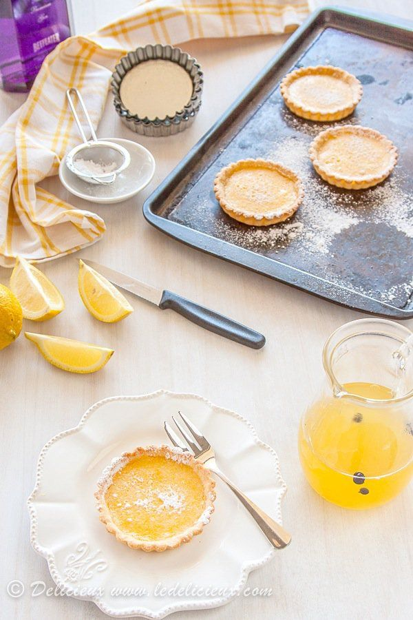 Gin and Tonic Tarts (Lemon Tarts) - your favourite cocktail in dessert form | Get the recipe at deliciouseveryday.com