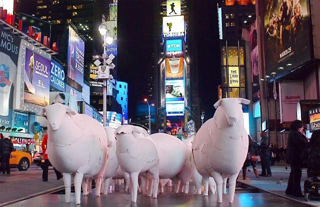 COUNTING SHEEP by Kyu Seok Oh Times Square