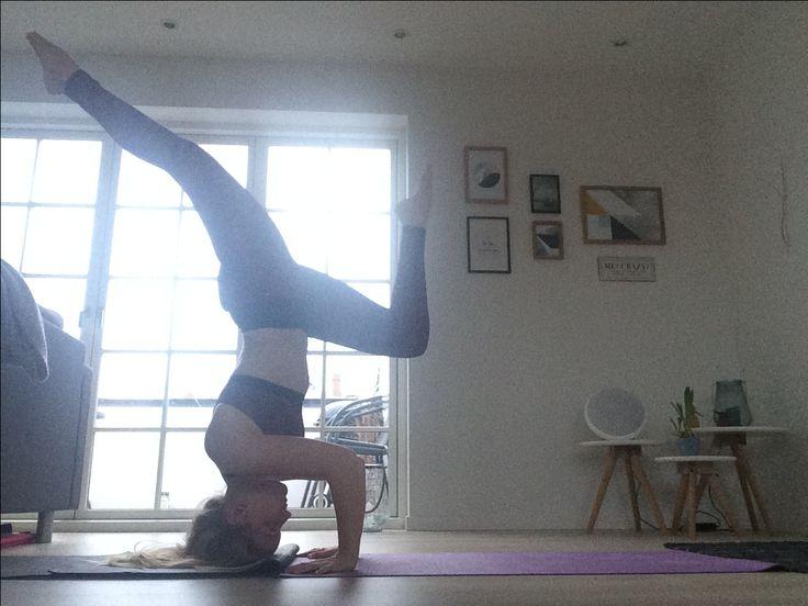 Beautiful headstand pose