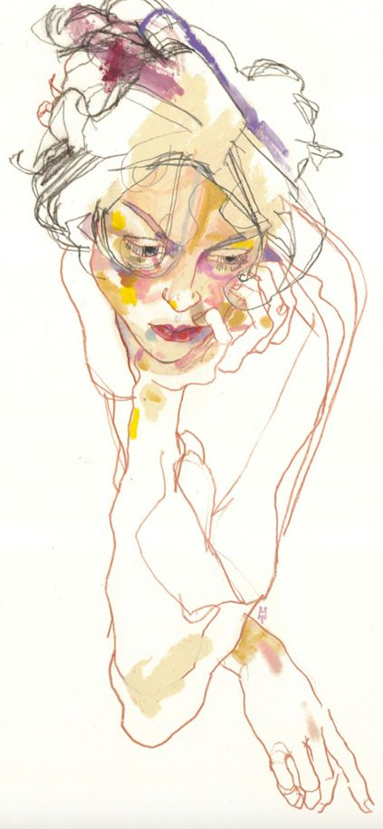 "By Howard Tangye, 2005, Detail ""Arthur"", Mixed media on Fabriano Paper."