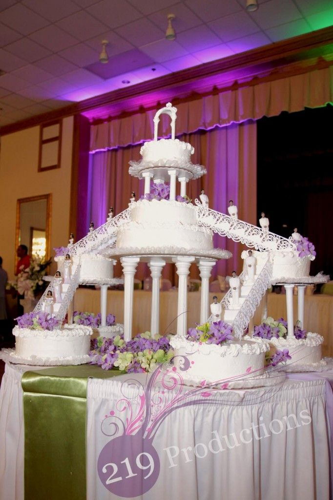 Giant Multi Level Flavored Cake Stairway Tower Thingy Photo Courtesy Of 219