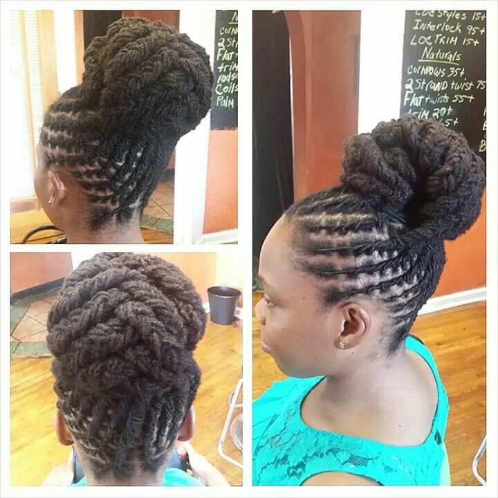 20 Lovely Hairstyles For Black Women With Pictures Dread Bun Bun