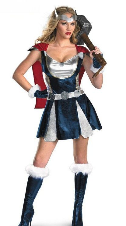 Encontrar Más Sexy Costumes Información acerca de Cosplay del super héroe Avengers traje Thor chica disfraz adulto mujeres Sexy disfraces de Halloween, alta calidad traje de boxeador, China traje de cosplay Proveedores, barato trajes de acción de gracias de M & A International en Aliexpress.com