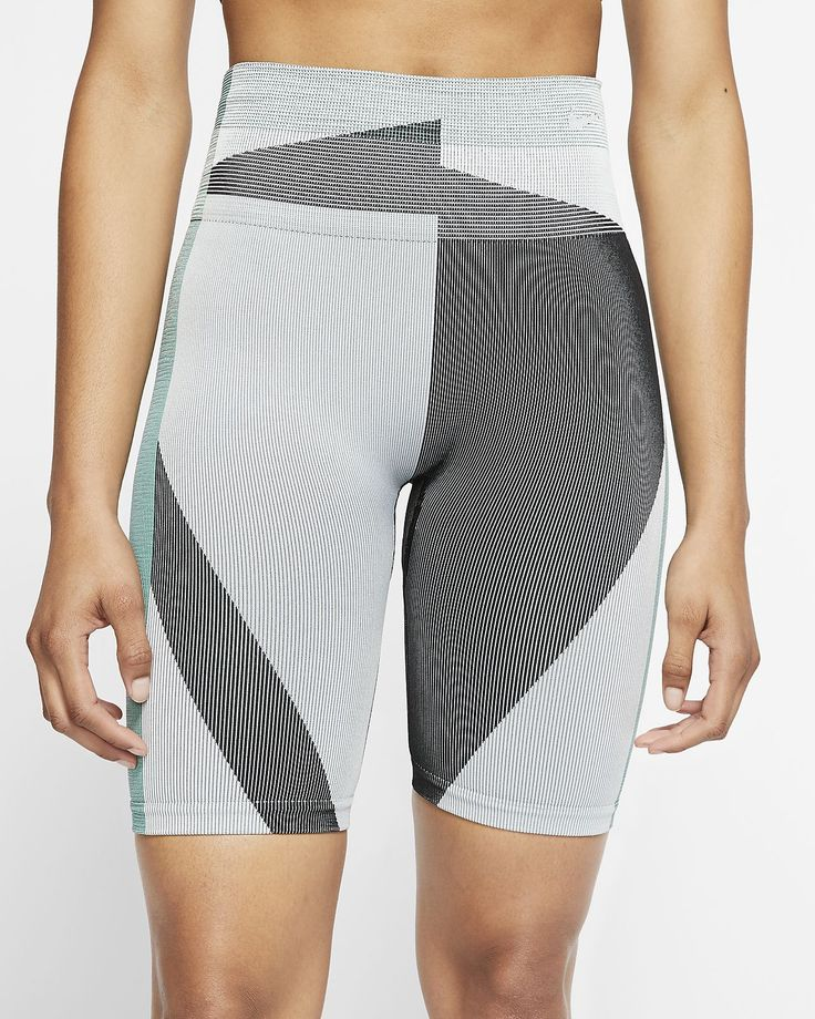 "Nike Icon Clash Women's Seamless 8"" Training Shorts. Nike"