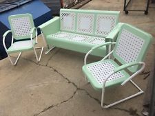 Old Metal Porch Gliders Vintage Outdoor Patio Lawn Chair Retro Furniture And More