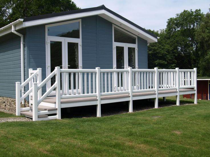 Fensys upvc low maintenance holiday home lodge decking