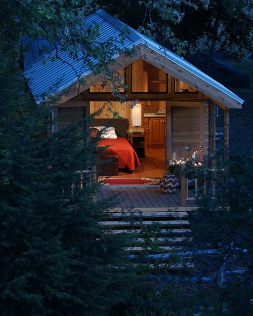 This will be my cabin in the Oregon wilderness.: Tiny Cabin, Tiny Homes, Ideas, Dream, Guest House, Tiny Houses, Cottages, Place, Space