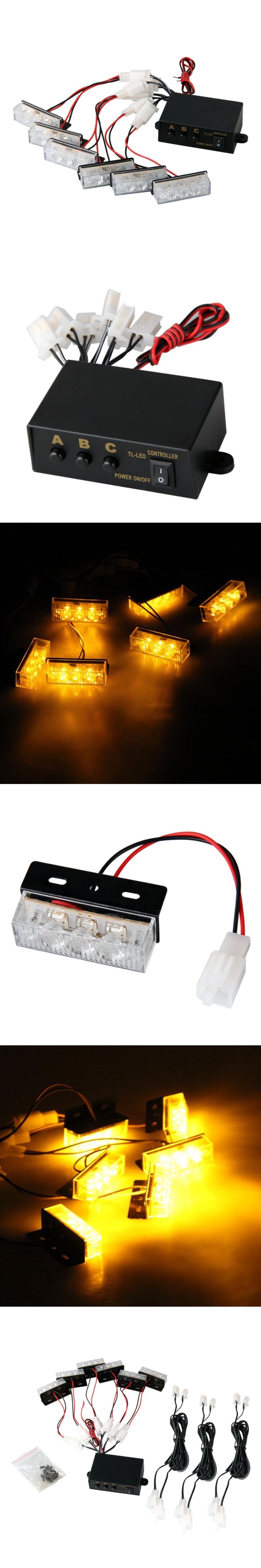Likebuying Yellow 18 LED Strobe Dash Emergency Flashing Warning Light for Car Truck