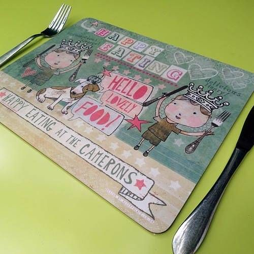 I LOVE love LOVE this Set Of Personalised Placemats!!!   ||  by Alice Palace via not on the high street