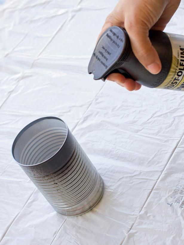 Halloween Party Favor: Mummy Candy Cans - on HGTV
