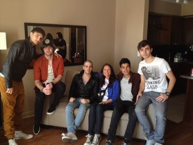 Grooming by our beauty expert Laura Szucs for the members of the popular UK pop band The Wanted on their press tour in Toronto.  www.plutinogroup.com