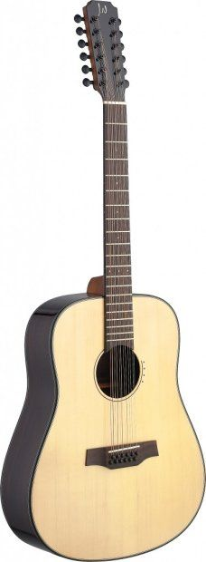 New Model!! James Neligan LYN-D12 Dreadnought 12 String acoustic Guitar w/ solid spruce top   Reverb