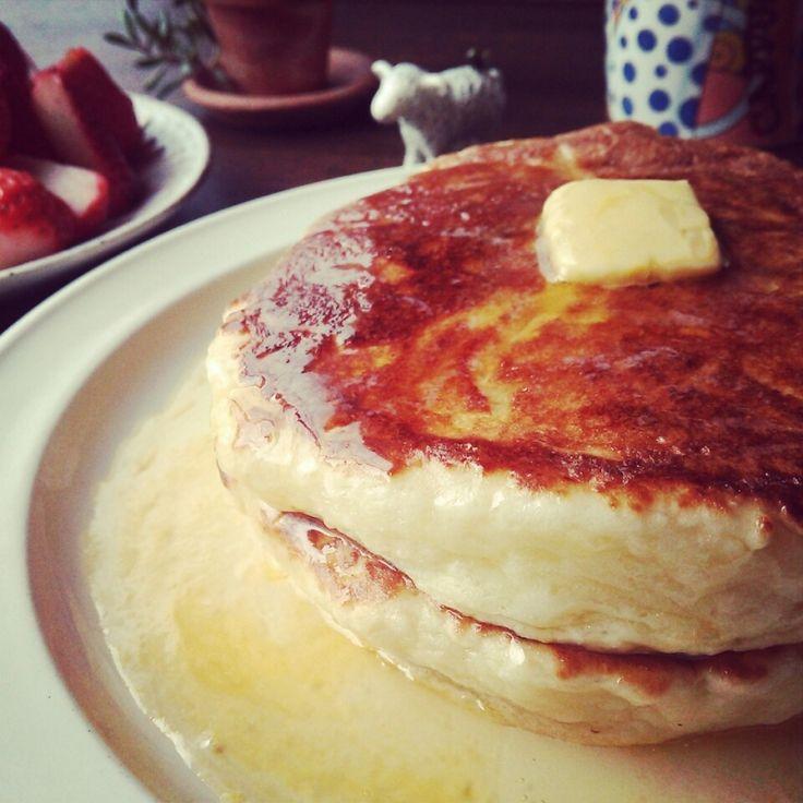 なにこれ!!新食感~♪究極のもちもちパンケーキ♪  しゃなママオフィシャルブログ「しゃなママとだんご3兄弟の甘いもの日記」Powered by Ameba